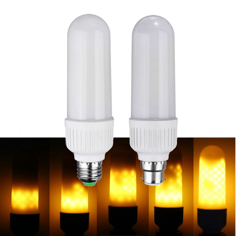 Best Price Home Halloween Decor 2835 SMD 99 LED Lamp Bulb E27 B22 6W Three Modes 1300K-1800K Yellow Flame LED Light Bulb 85-265V best price 5pin cable for outdoor printer