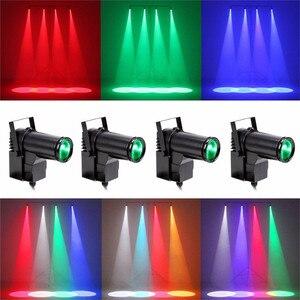 Image 3 - BEIAIDI Bola de espejo reflectante para fiesta de boda, foco LED de pines de DJ, discoteca, KTV, 10W, iluminación de escenario, punto RGB
