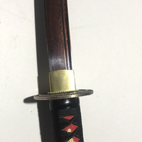 AUWIY 41 Swords Samurai Sword Red Damascus Foled Steel Blade Japanese Katana Sword Battle Ready Espada Practical Sharp Knife