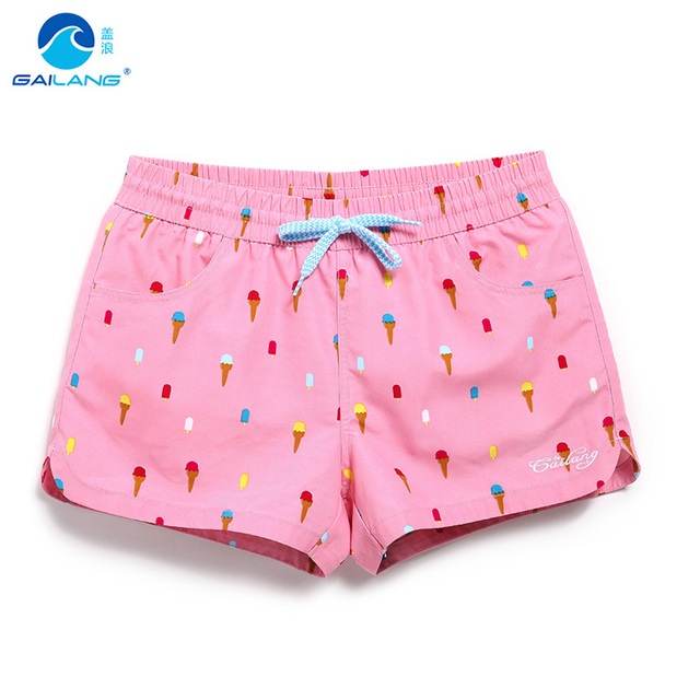 3e1a097e82 Women board shorts pink swimming short swimsuits cartoon parttern sexy  quick dry lovely running shorts joggers bodybuilding sexy