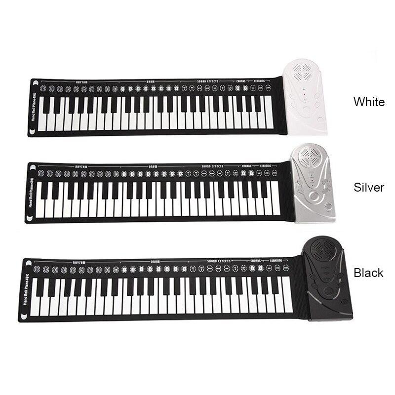 Newly Portable Flexible Digital Keyboard Piano 49 Keys Tones Rhythms Electronic Roll Up Toys BF88
