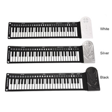 лучшая цена Newly Portable Flexible Digital Keyboard Piano 49 Keys Tones Rhythms Electronic Roll Up Piano Toys BF88