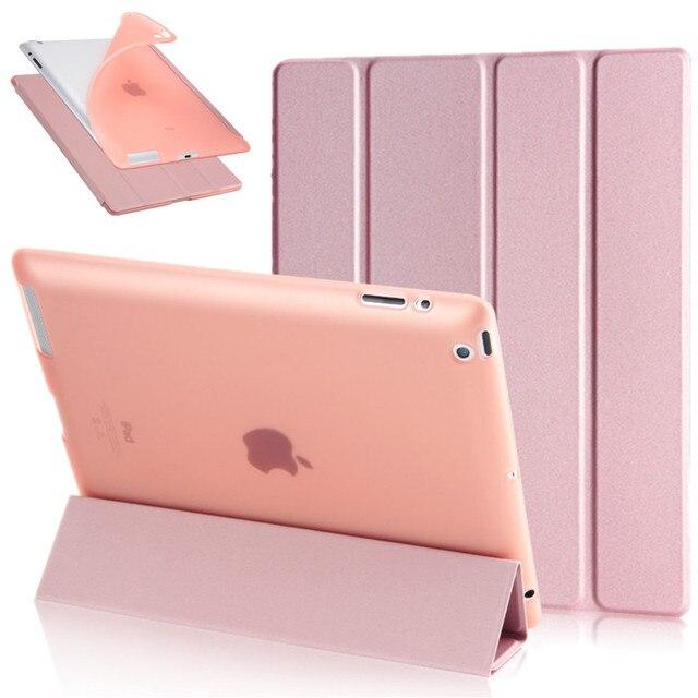 """4-складной чехол из искусственной кожи для iPad 2/3/4 9,7 """"планшеты ТПУ задняя Мягкая тонкая Защитная смарт-подставка чехол для iPad 2 iPad 3 iPad 4 + ручка"""