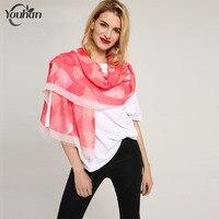 YOUHAN 2018 Mode Femmes Écharpe Coton Amour Motif Imprimer Lady Scraf Foulard Femme Longue Coton Echarpes Wrap Châle Hijab Pashmina