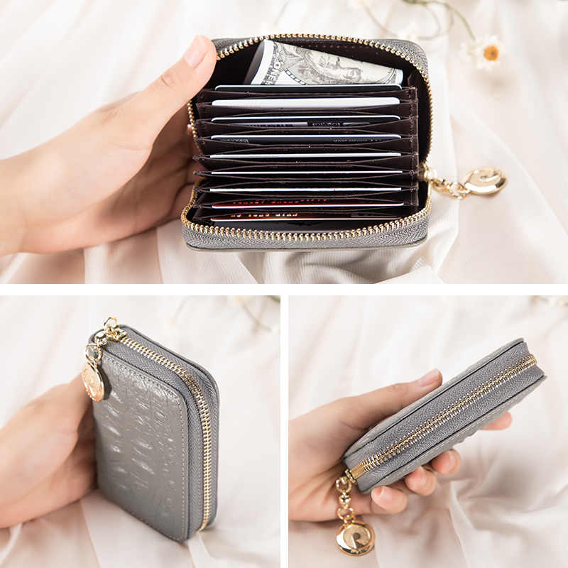 REALER frauen brieftasche mini geldbörse kurz kupplung brieftaschen aus echtem leder zipper geld tasche frau karte halter weibliche Münze taschen kleine