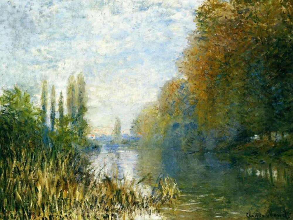 High quality Oil painting Canvas Reproductions The Banks of The Seine in Autumn By Claude Monet hand paintedHigh quality Oil painting Canvas Reproductions The Banks of The Seine in Autumn By Claude Monet hand painted