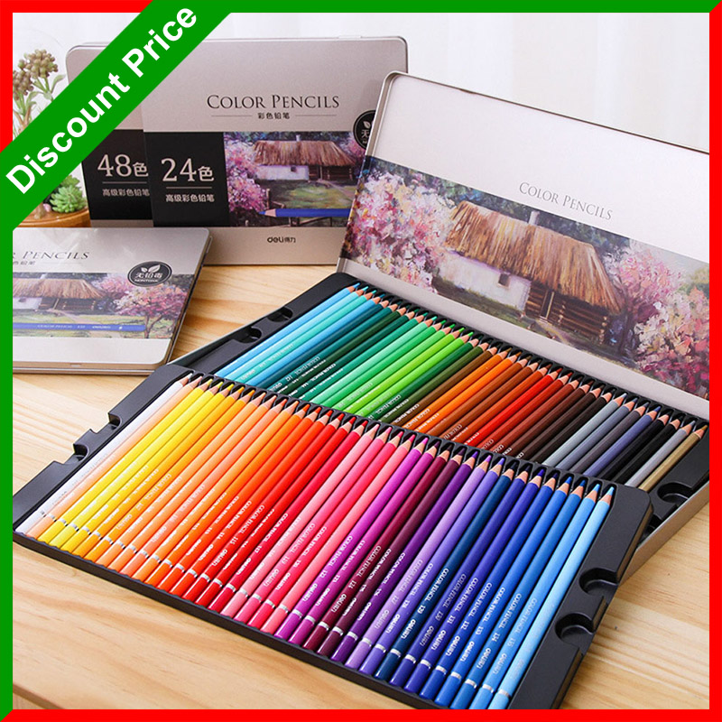 Premium 24/36/48/72 Colored Pencils lapices de colores Professional Soft Core Coloured Drawing Pencil Set for Coloring Books