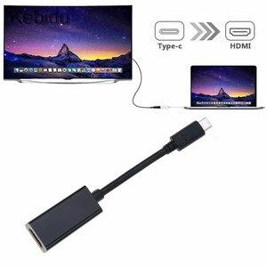 Image 1 - محول USB C إلى HDMI 4K نوع C 3.1 ذكر إلى HDMI أنثى كابل محول محول لسامسونج S9/8 Plus HTC هواوي LG G8