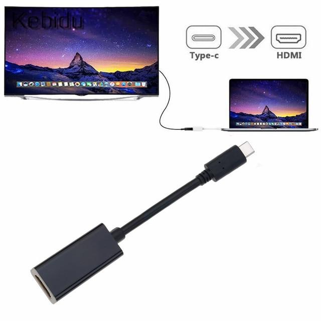 محول USB C إلى HDMI 4K نوع C 3.1 ذكر إلى HDMI أنثى كابل محول محول لسامسونج S9/8 Plus HTC هواوي LG G8