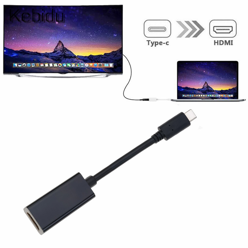 USB 3.1 Type-C to HDMI Female Cable Adapter 4K Portable converter