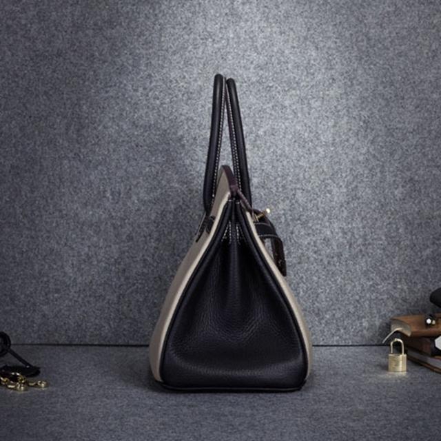 Fashion Classic Women Genuine Leather HandbagBag Star Hit Color Tote Bag Cowhide ladies'  Shoulder Bag~Quality Guaranteed~16B41