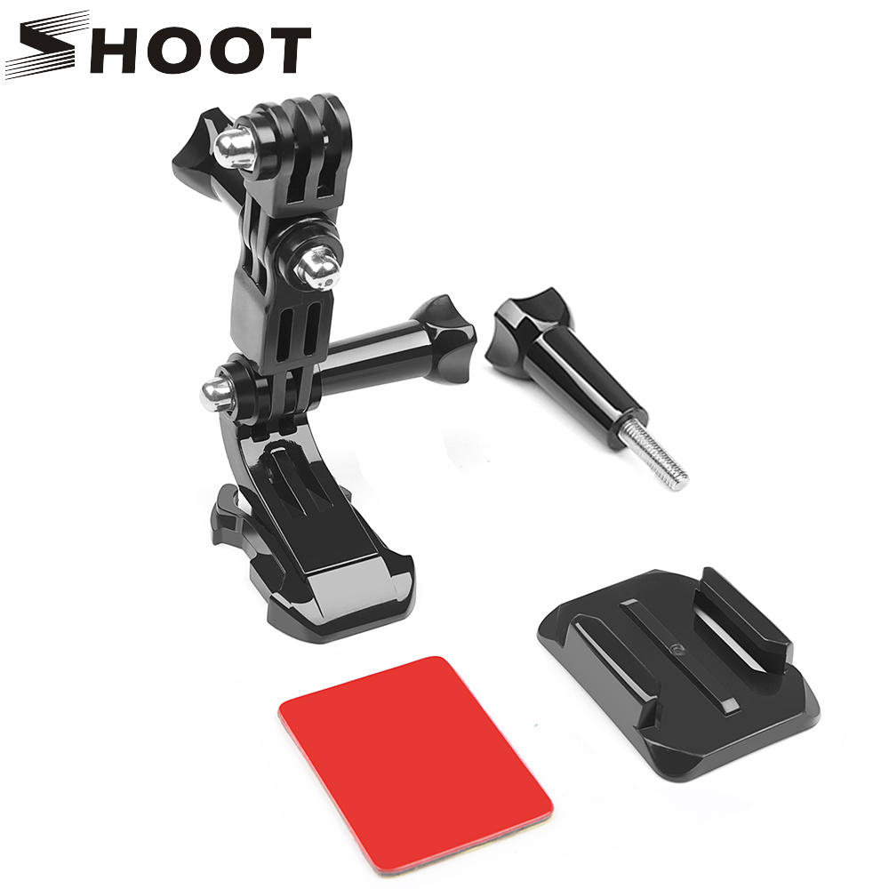 SHOOT Helmet Side Mount Accessories for GoPro Hero 6 5 4 Xiaomi Yi 4K Sjcam Sj4000 M10 M20 Eken H9 H9r Go Pro Hero 6 5 Accessory цена