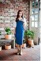 S M L XL summer new arrival women sleeveless long denim dresses casual ladies plus size jeans dress vestidos