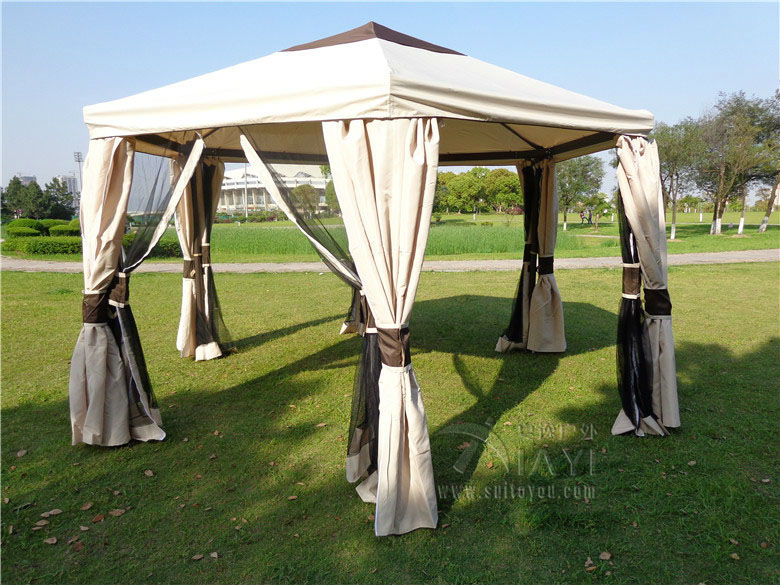 Dia 3.5 luxury meter outdoor gazebo tent patio pavilion canopy for garden beige sun shade furniture house 3 3 6 meter pc board high quality durable garden gazebo grace outdoor tent canopy fashion aluminum sun shade pavilion