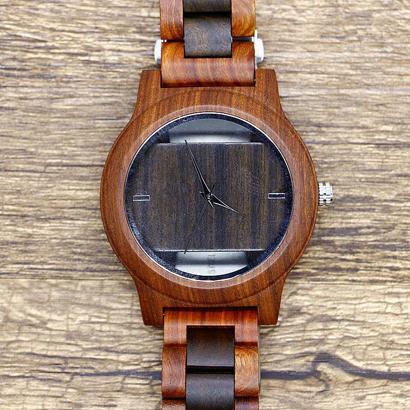 Creative Wood Watch Handmade Bamboo Women Men Simple Casual Analog Quartz Wooden Wrist Watch Reloj de madera new handmade bamboo sunglasses men wooden sunglasses women polarized brand wood eyeglasses frame ls3044