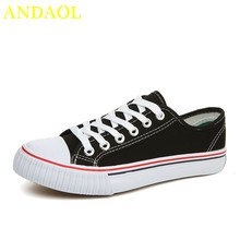 ANDAOL Mens  Fashionable Youth Canvas Shoes Breathable Walking Casual Tenis Feminino Comfortable Non-Slip Campus Sneakers