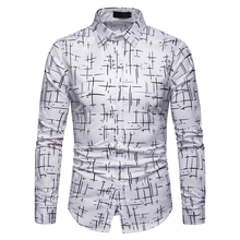 Новое поступление с цветочным принтом Для мужчин рубашки для мальчиков с длинным рукавом Для мужчин длинная рубашка с отложным воротником мужская рубашка в стиле кэжуал Camisas дропшиппинг