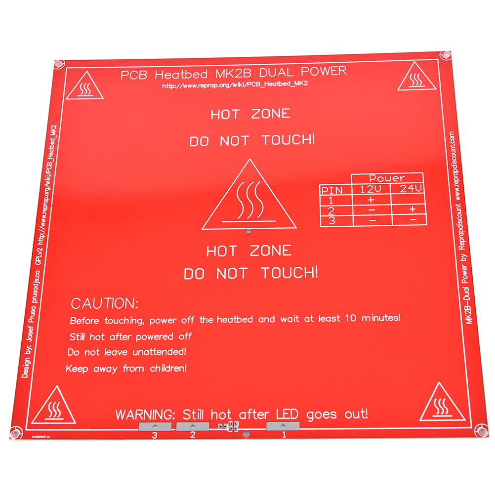 JETTING High Quality Red 3D Printer PCB Heatbed MK2B Heated Bed Hot Plate For Prusa&Mendel MK2A