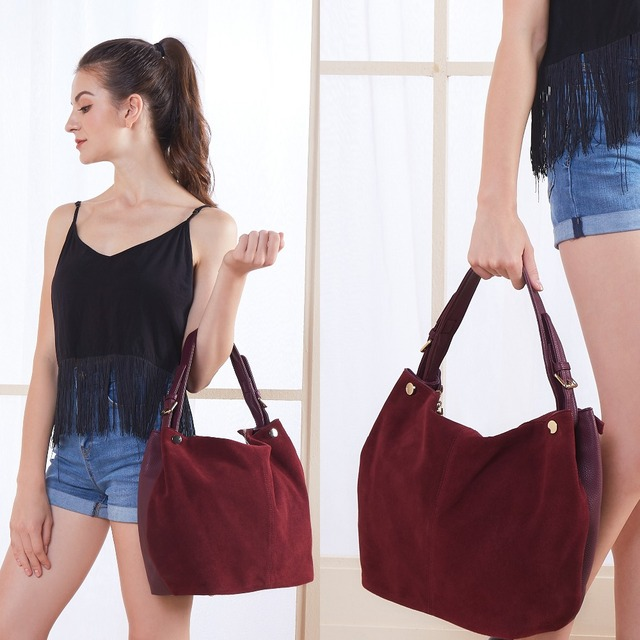 Nico Louise Suede Leather Shoulder Bags 2