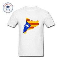 2017 다양한 색상 재미 면 카탈로니아 맵 플래그 티 재미 T 셔츠