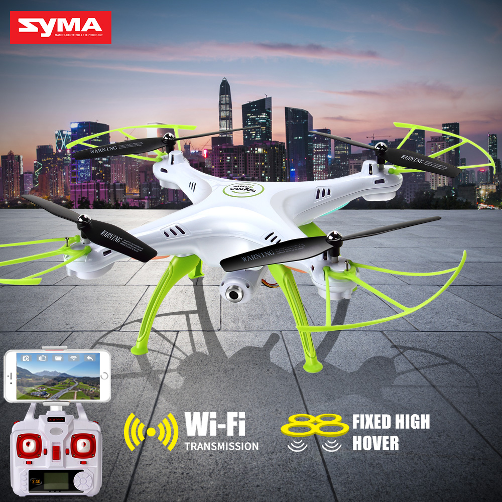 SYMA X5HW Dron Wifi RC Quadrocopter 2.4G 4CH Drone with Camera Altitude Hold Helicopter Remote Control Toy Aircraft wltoys q222 quadrocopter 2 4g 4ch 6 axis 3d headless mode aircraft drone radio control helicopter rc dron vs x5sw