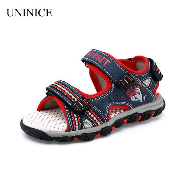 43847dd81 2016 New arrival wear-resistant boys sandals genuine leather kids sports sandals  boys girls summer