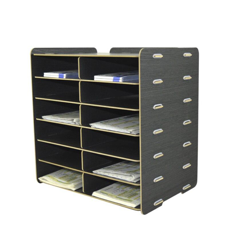 Office Organizer A5 Organizador Escritorio Oficina Desk Organizer Wooden Desktop Document Bill Paper Magazine Storage Revistero