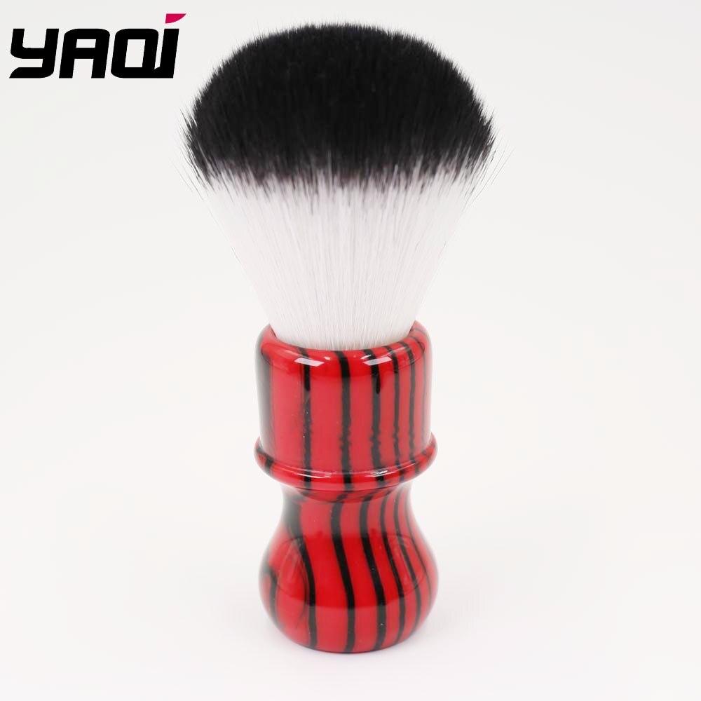 Yaqi Mal Zebra 26 milímetros Nó Preto e Vermelho Lidar Com Cabelo Sintético Pincel De Barba