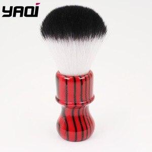 Image 1 - Yaqi רעה זברה 26mm קשר שחור ואדום ידית סינטטי שיער גילוח מברשת
