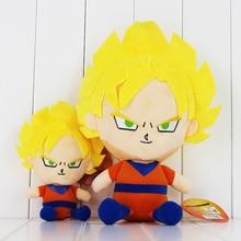 2 Styles Anime Dragon Ball Super Saiyan Son Goku Plush Soft Stuffed Doll Toy for Kids Gift 20cm 35cm