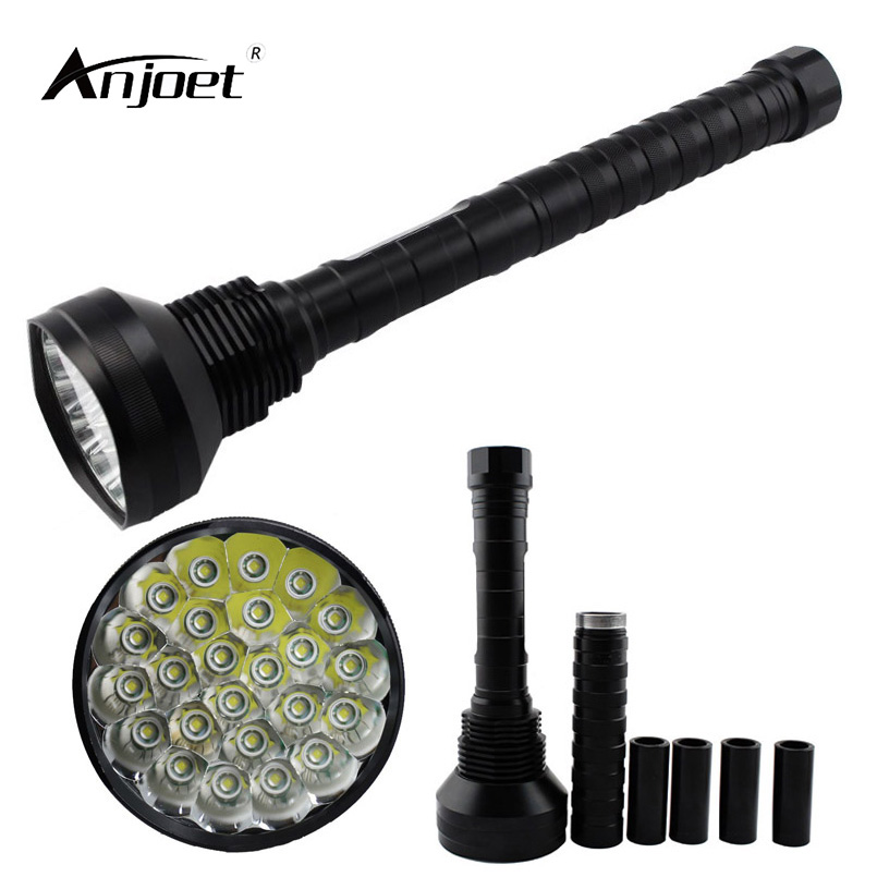 ANJOET High texture led flashlight 35000LM XML-24*T6 Hunting exploration Lamp LED Flashlamps 26650/18650 Torch Lighting tactical new flashlight 18000 lumens high power 15x xml t6 led torch 1000m lighting distance hunting light by 4x 26650 battery