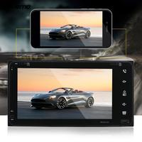 VEHEMO 7 Inches Double Din HD MP5 Player Touch Screen Support GPS Navigation With Europe Map Phone Connect Radio FM For Toyota