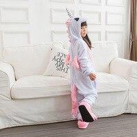 Pink Unicorn Pajamas Children Unisex Pijamas Boy Girl Kid Cartoon Animal Pyjama Onesie Sleepwear Hoodie