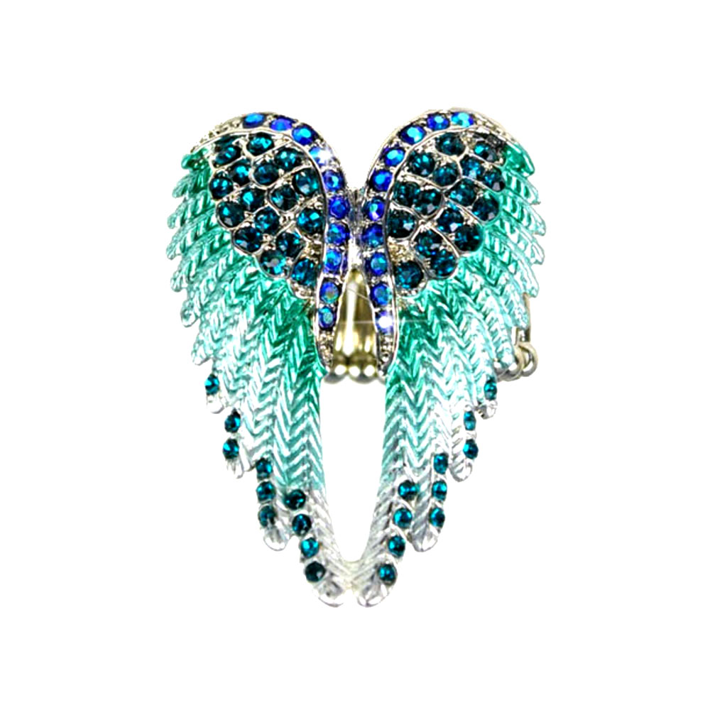 Exclusive Design Steampunk Austrian Rhinestone Fashion Angel Wing Ring Excellent Quality Cocktail Ring for Lady ,RN-618
