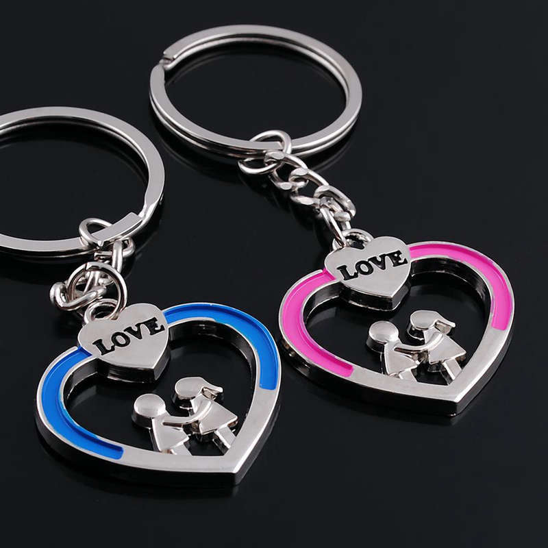 01a8f9efed Novelty Items Casual Couple Love Keychain Cartoon Key chain Lovers Key ring  Women Wedding Jewelry Accessory Valentines Gift-in Key Chains from Jewelry  ...