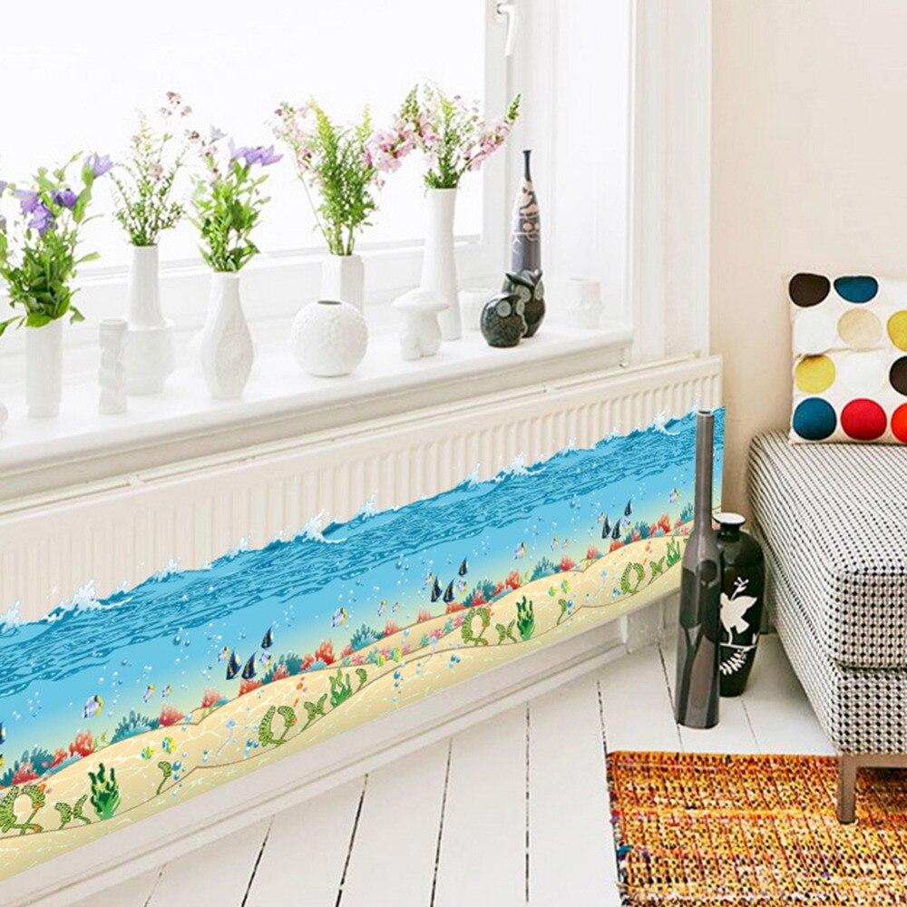 Bunte Sea Welt Wandaufkleber Removable Wasserdicht Dekorative Wand Ecke  Decals Kinder Wohnzimmer Badezimmer Dekoration In Bunte Sea Welt  Wandaufkleber ...