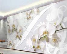 beibehang Customize any size wallpaper murals European style orchid pattern TV background wall 3d papel tapiz behang