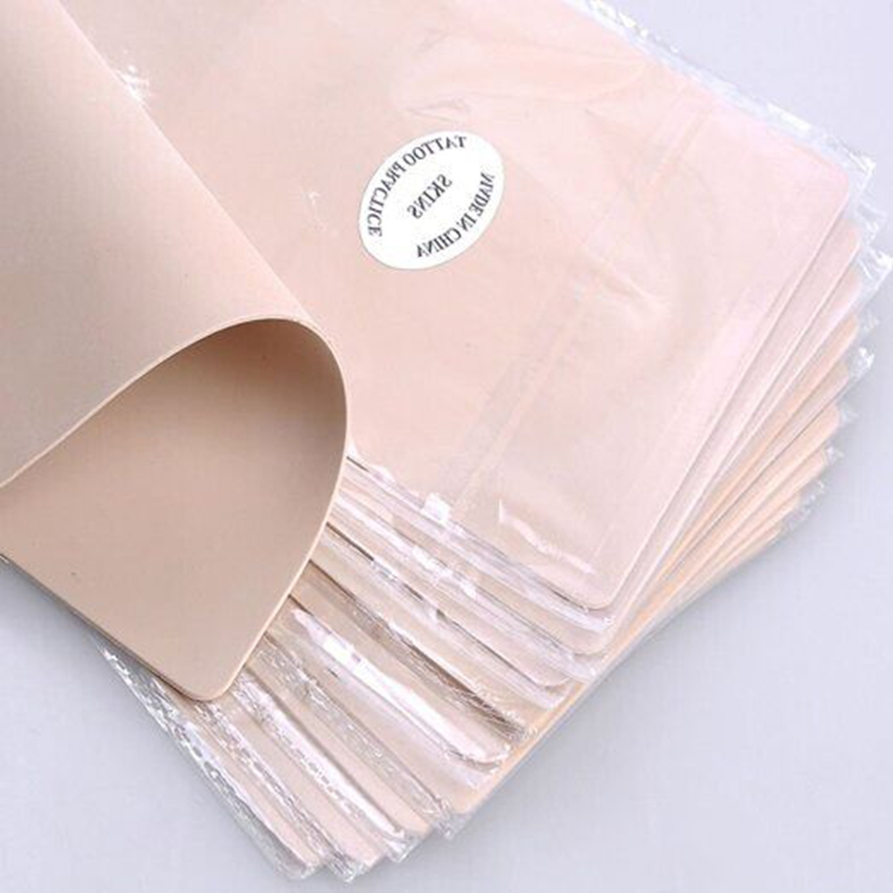 10pcs/lot Permanent Makeup Tattoo Practice Skins Blank Tattoo Practice Fake Skins Double Sided 15x20cm For Tattoo Free Shipping-in Tattoo accesories from Beauty & Health