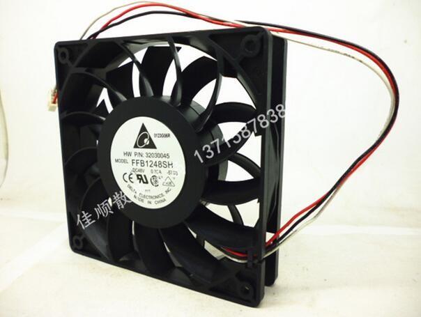 DELTA P/N:32030045 FFB1248SH 120*120*25 48V 0.30A 12cm fan