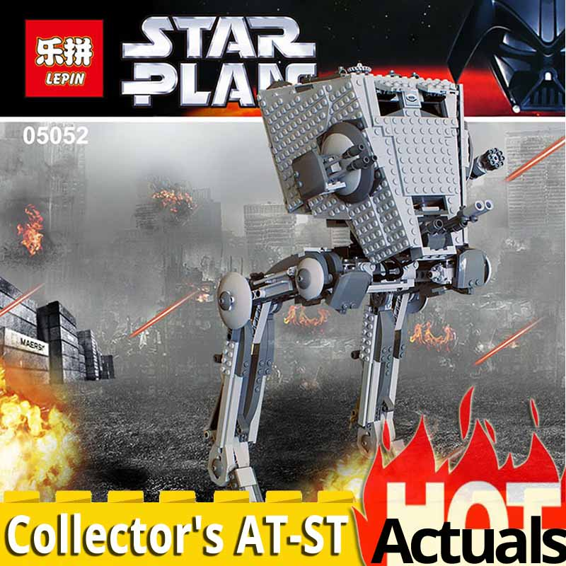 Lepin Star Series 05052 The AT ST Robot Building Blocks Bricks compatible legoings wars 10174 Educational Toys Christmas gift lepin 1022pcs star series wars captain rex s at te building blocks brick lepin 05032 boys toys gift compatible legoingly 75157