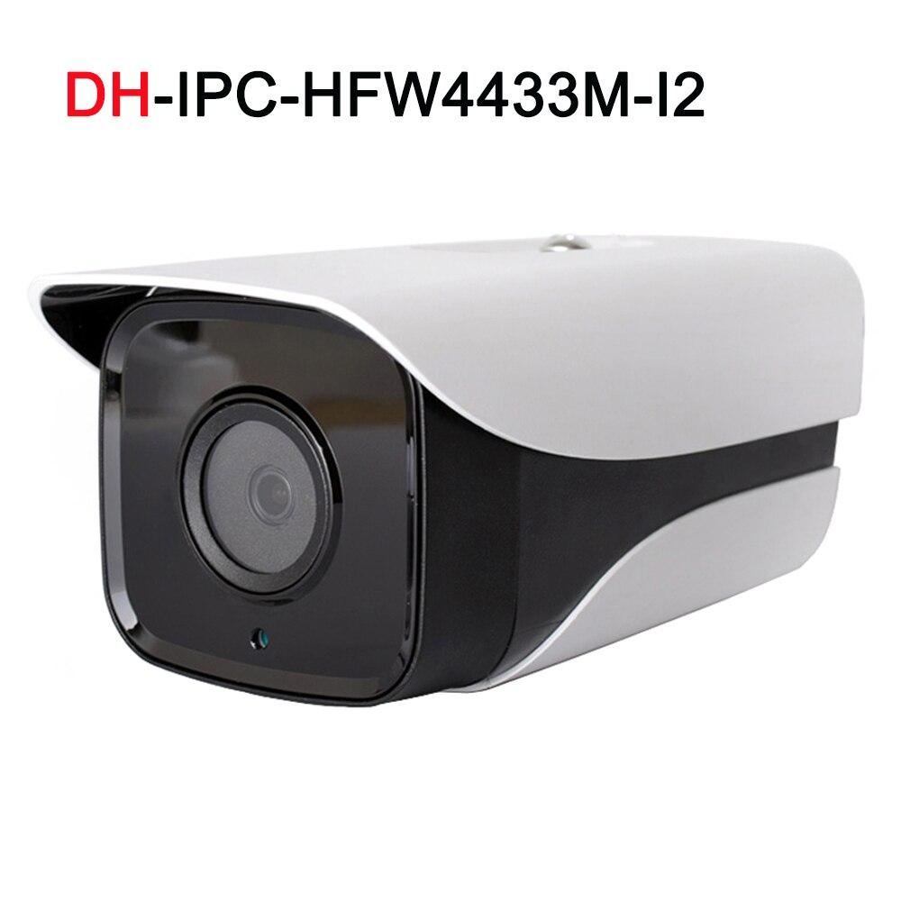IP Camera IPC-HFW4433M-I2 Support ONVIF 4MP 80m IR Range H.265 Smart Detection IP67 Bullet Camera dahua ip camera ipc hfw4433m i2 support onvif 4mp 80m ir range h 265 detect ip67 bullet camera with bracket ds 1292zj 4pcs lot