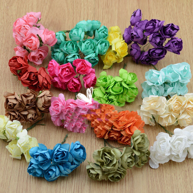 Fake flowers simulation flowers small rose garlands of paper flowers fake flowers simulation flowers small rose garlands of paper flowers diy materials bracelet candy box gift mightylinksfo Choice Image