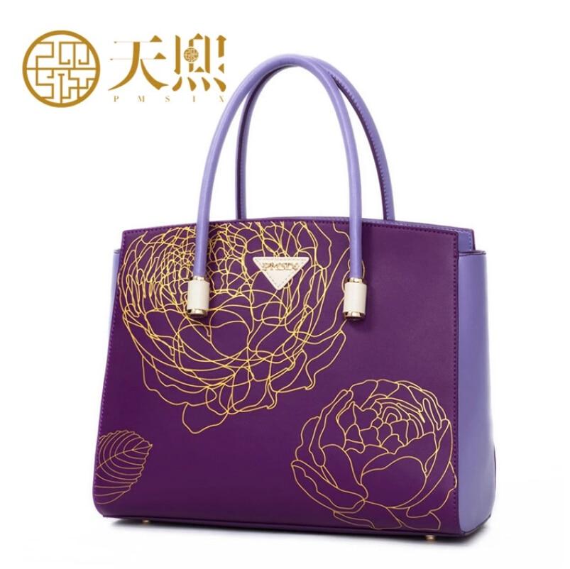 Famous brand top quality dermis women bag   Fashion Chinese style printing handbag The temperament Lady Shoulder Bag
