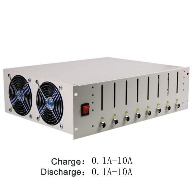 EBC-X 8 canaux 18650 testeur de capacité de batterie avec support de batterie Charge et décharge 10A Test de vieillissement