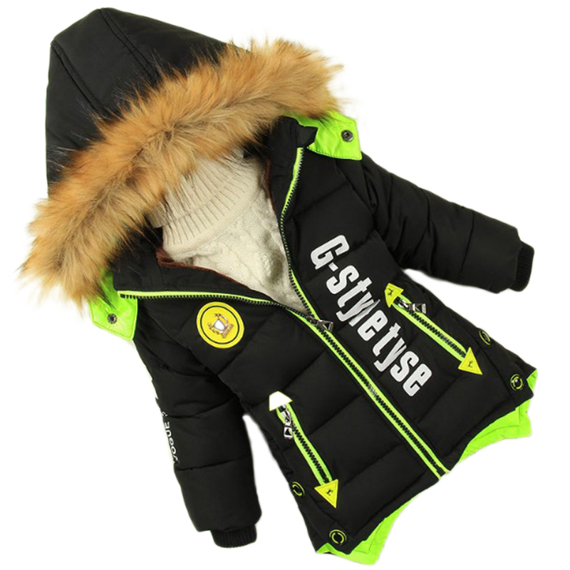 winter jacket boys Male child wadded jacket childrens clothing thick jacket coat of long kids parka baby cotton-padded clothes