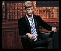 FanZhuan ücretsiz kargo yeni erkek erkek moda rahat iş beyefendi uzun kollu Ince elbise blazer ceket 14033 nakış