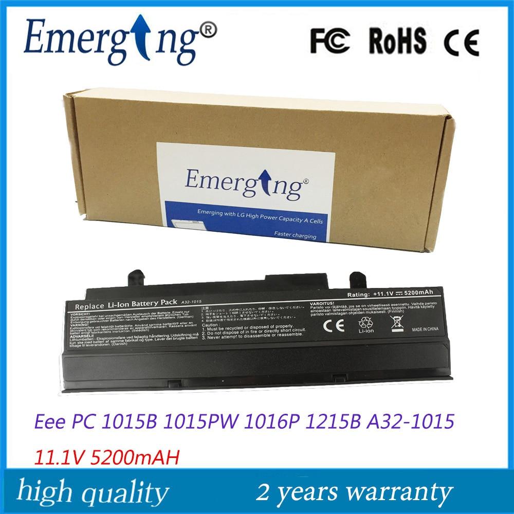 11.1V 5200Mah Japanese Cell New Laptop Battery for ASUS Eee PC 1011BX 1016 1016P 1215P 1215N VX6 Black PL32-1015 A32-1015 все цены