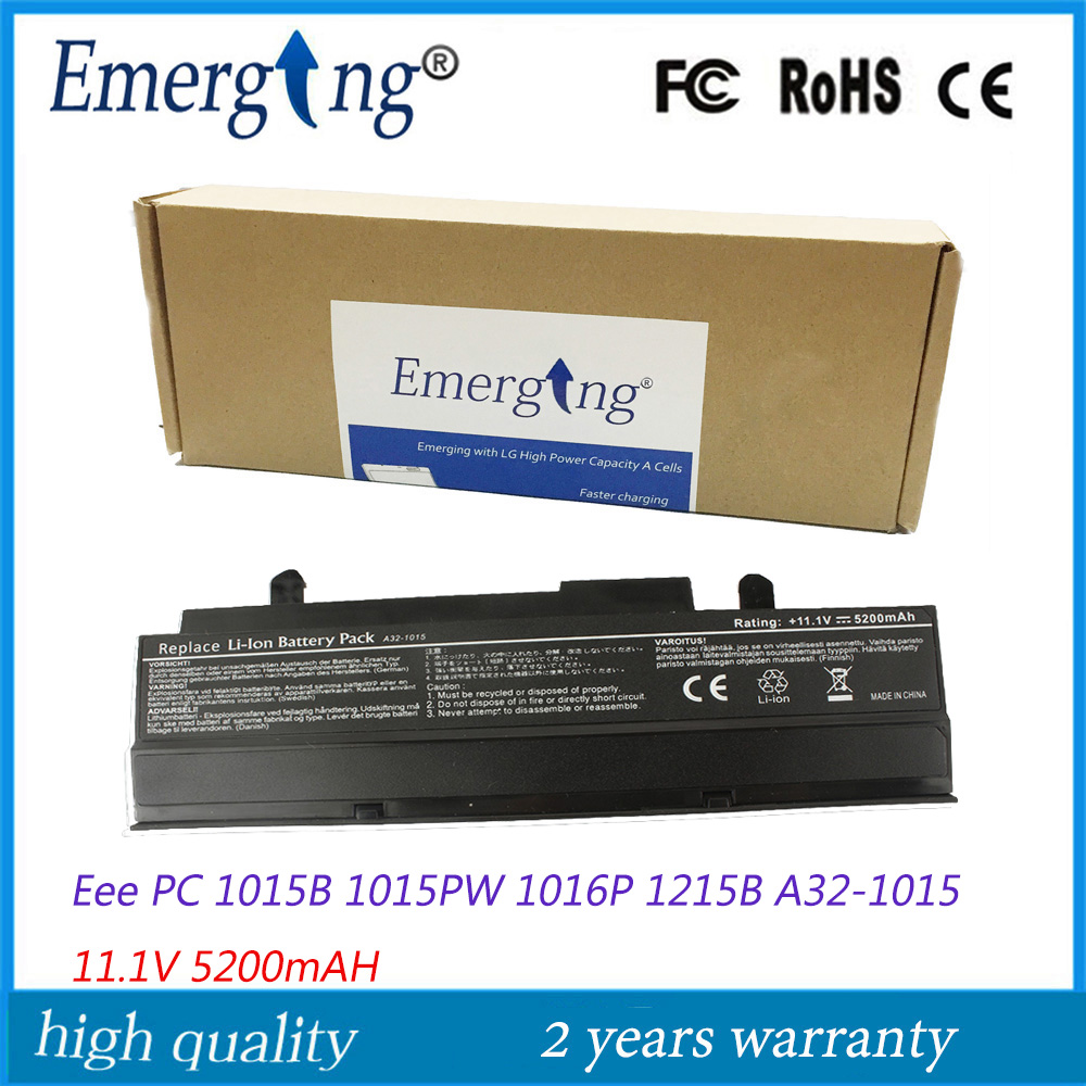 11.1V 5200Mah Japanese Cell New Laptop Battery for ASUS Eee PC 1011BX 1016 1016P 1215P 1215N VX6 Black PL32-1015 A32-1015