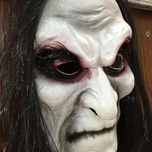 Image 3 - Halloween Zombie Mask Props Grudge Ghost Hedging Zombie Mask Realistic Masquerade Halloween Mask Long Hair Ghost Scary Mask