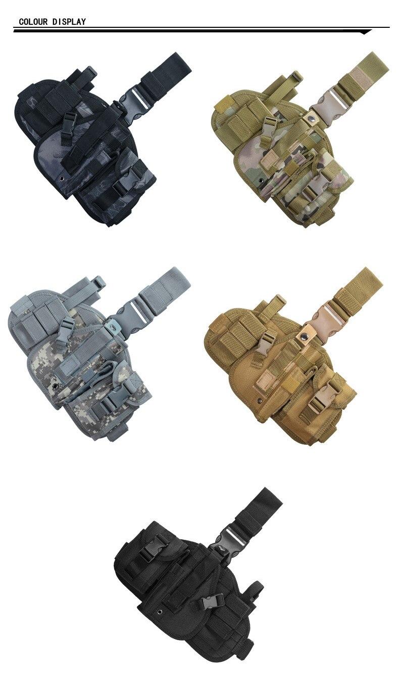 pistola coldre perna cabide camuflagem bolsos pacote coxa saco de caça